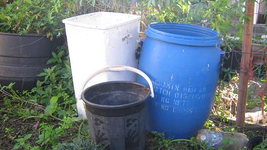 Old bins or buckets can with a little work be turned into worm farms.