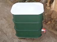 A worm compost bin.