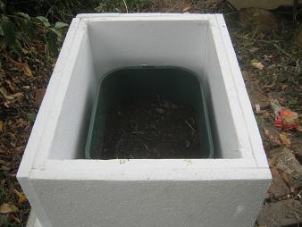 Box zum Schutz von Würmern im Winter