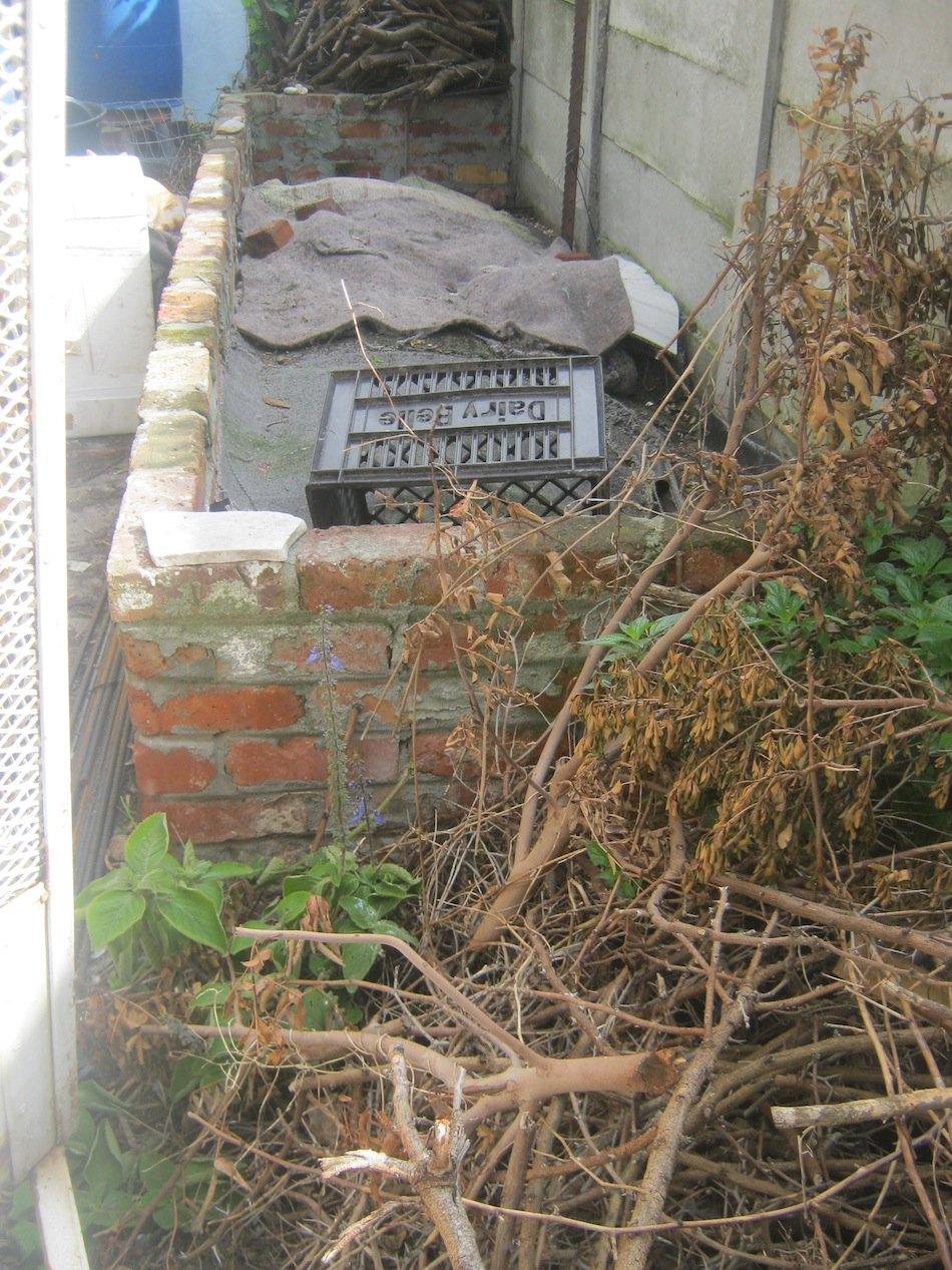 Homemade Bulk brick wormfarm