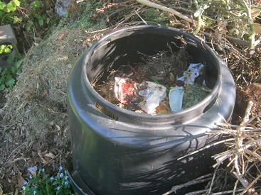 Many composters are made out of plastic.