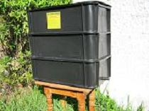 A 3 tier worm farm is great to recycle kitchen waste and combat global warming