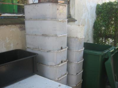Worm breeder boxes - stacked